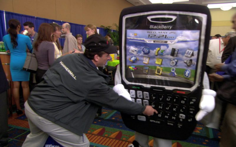 Hammermill Paper Company Jacket Worn by Steve Carell (Michael Scott) and Blackberry Phone