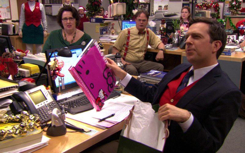 Hello Kitty Laptop Case For Apple MacBook Laptop 13 Held by Ed Helms (Andy Bernard) in The Office – Season 7