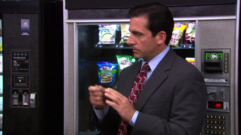 """Herr's Chips in The Office – Season 4, Episodes 7-8, """"Money"""" (2007) - TV Show Product Placement"""