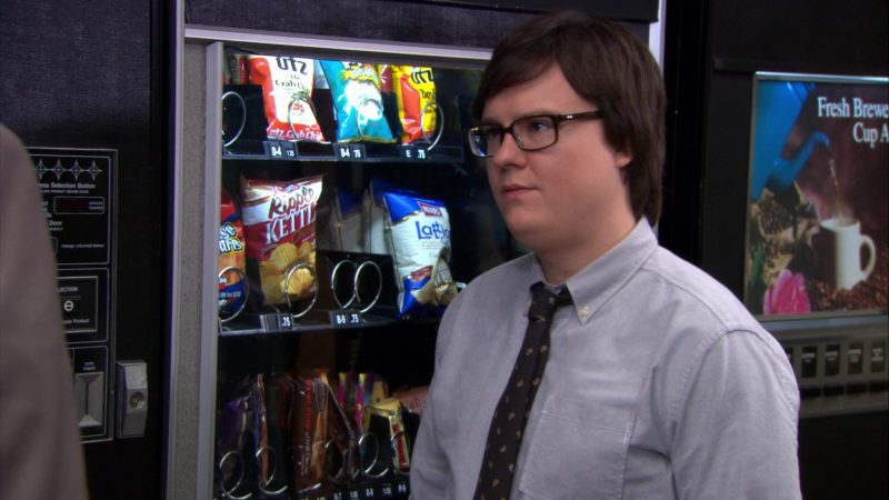 """Herr's and UTZ Chips in The Office – Season 9, Episode 13, """"Junior Salesman"""" (2013) TV Show Product Placement"""