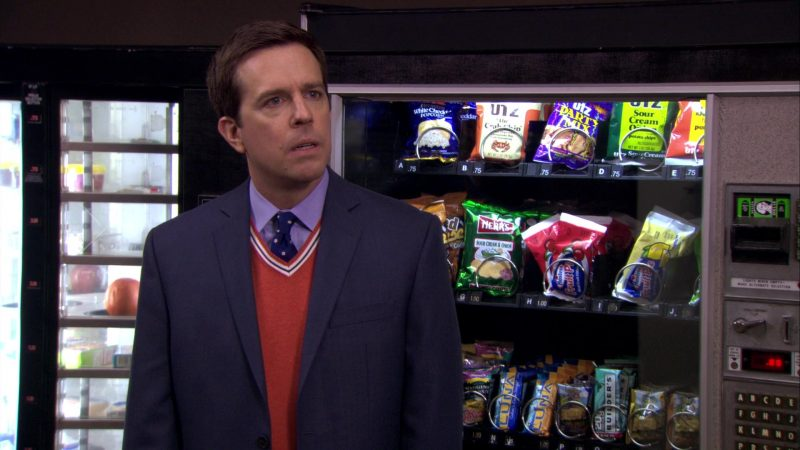 """Herr's and UTZ Snacks in The Office – Season 7, Episode 14, """"The Seminar"""" (2011) - TV Show Product Placement"""