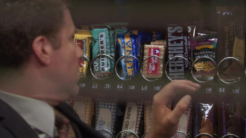 """Hershey's Milk Chocolate and Wegmans Salted Virginia Peanuts in The Office – Season 7, Episode 22, """"Goodbye, Michael"""" (2011) - TV Show Product Placement"""