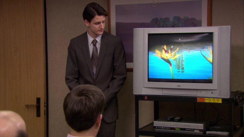 "JVC TV Used by Zach Woods (Gabe Lewis) in The Office – Season 6, Episode 15, ""Sabre"" (2010) - TV Show Product Placement"