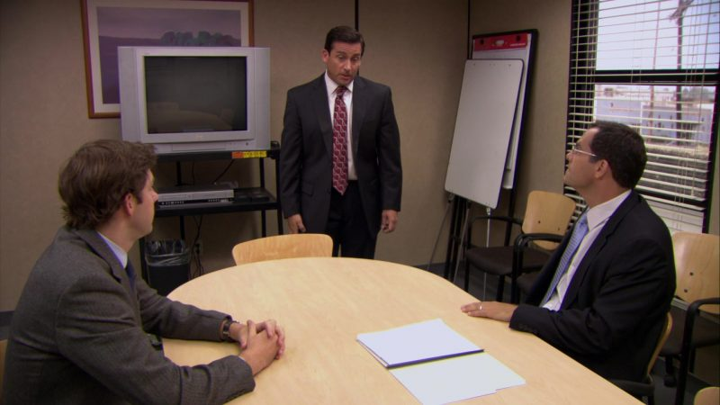 "JVC TV in The Office – Season 6, Episode 2, ""The Meeting"" (2009) - TV Show Product Placement"