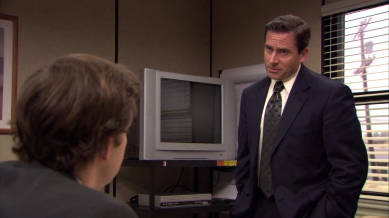 """JVC TV in The Office – Season 6, Episode 3, """"The Promotion"""" (2009) TV Show Product Placement"""