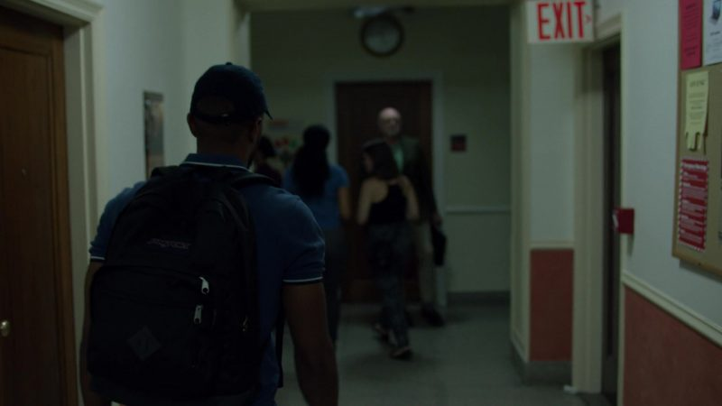 """JanSport Backpack Used by Eka Darville in Jessica Jones - Season 3, Episode 3, """"A.K.A I Have No Spleen"""" (2019) TV Show"""