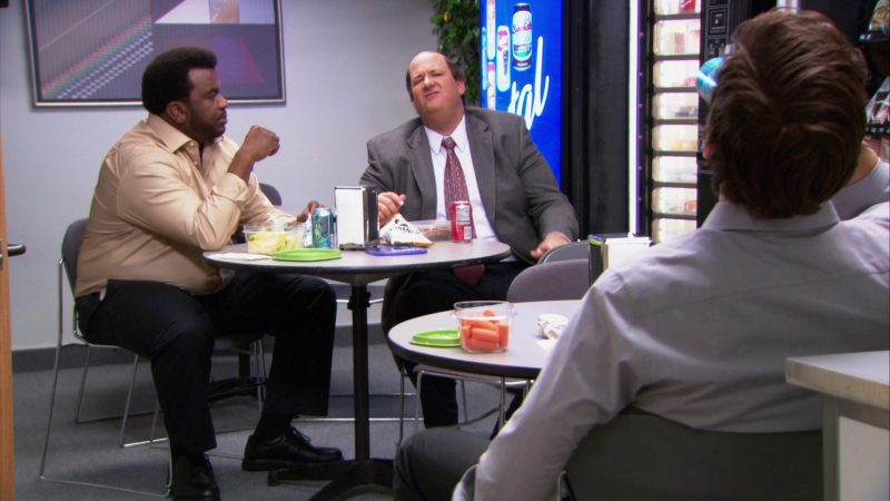 "LaCroix Sparkling Water Enjoyed by Craig Robinson (Darryl Philbin) in The Office – Season 9, Episode 10, ""Lice"" (2013) - TV Show Product Placement"