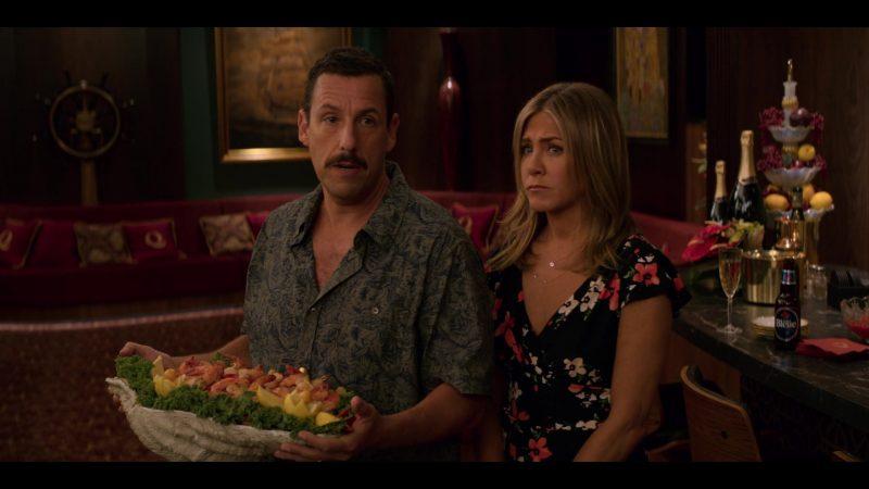 Labatt Bleue Beer Enjoyed by Adam Sandler in Murder Mystery (2019) - Movie Product Placement