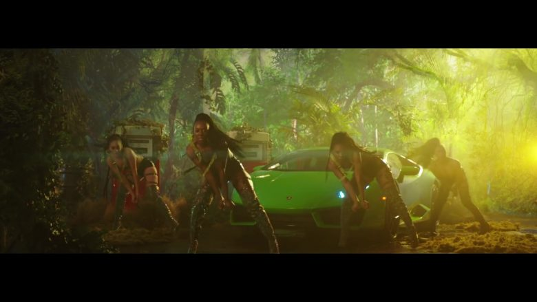Lamborghini Huracan Green Sports Car in Megatron by Nicki Minaj (2019) - Official Music Video Product Placement