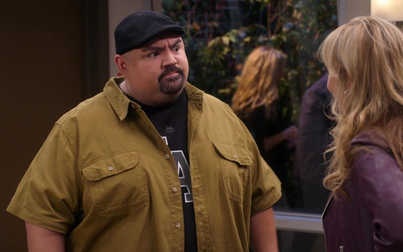 Majestic Athletic Black T-Shirt Worn by Gabriel 'Fluffy' Iglesias in Mr. Iglesias (1)