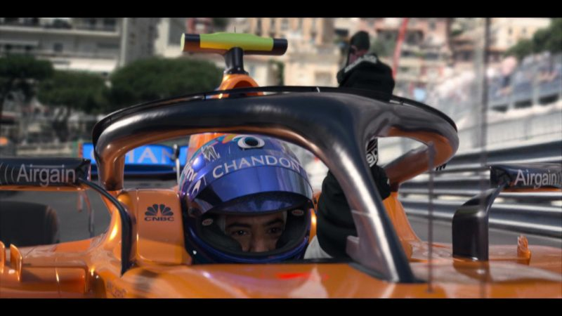 McLaren F1 Formula One, Chandon, CNBC, Airgain in Murder Mystery (2019) - Movie Product Placement