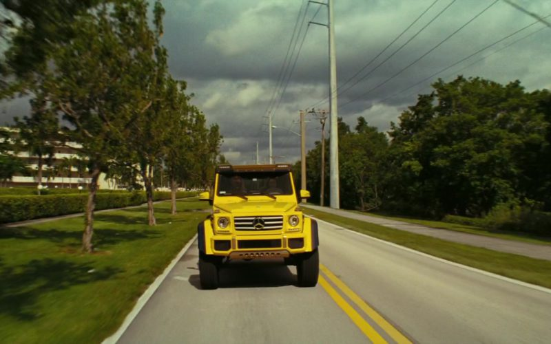 Mercedes-Benz G500 4×4² Yellow Car Used by Stefania LaVie Owen in The Beach Bum (1)