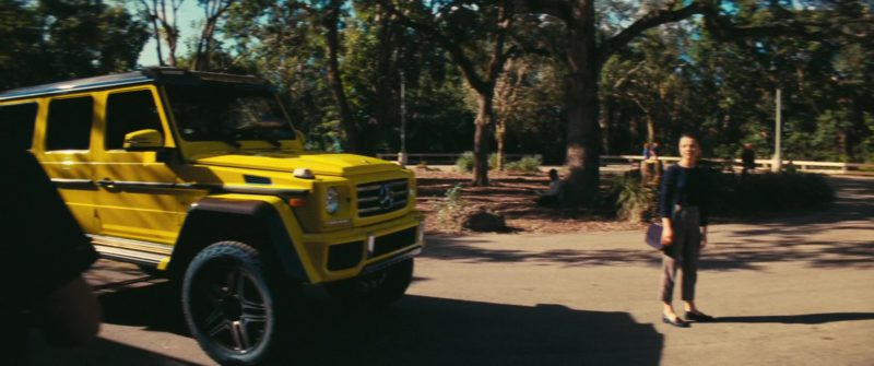 Mercedes-Benz G500 4×4² Yellow Car Used by Stefania LaVie Owen in The Beach Bum (2019) Movie Product Placement