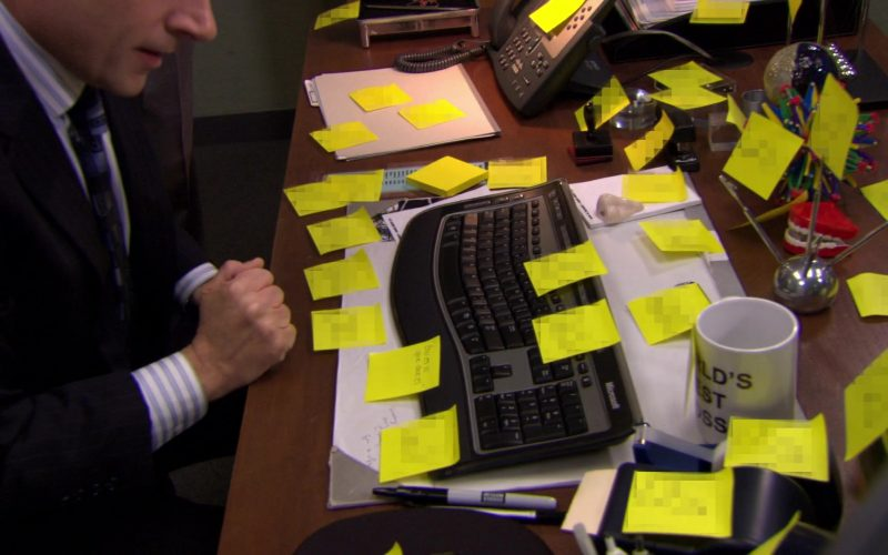 Microsoft Computer Keyboard Used by Steve Carell (Michael Scott) in The Office – Season 6