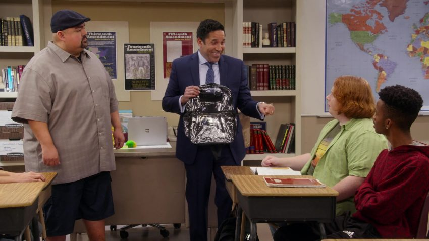 """Microsoft Surface Laptop Used by Gabriel 'Fluffy' Iglesias in Mr. Iglesias - Season 1, Episode 3, """"Full Hearts, Clear Backpacks"""" (2019) - TV Show Product Placement"""