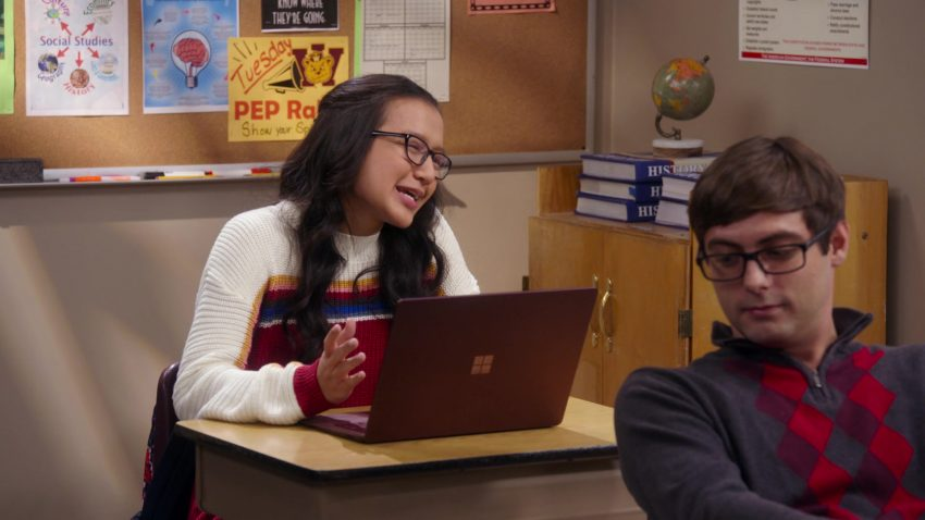 """Microsoft Surface Laptop Used by Gloria Aung in Mr. Iglesias - Season 1, Episode 5, """"Everybody Hates Gabe"""" (2019) - TV Show Product Placement"""