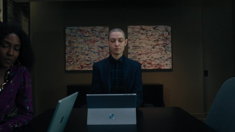 """Microsoft Surface Tablet Used by Asia Kate Dillon (Taylor Mason) in Billions - Season 4, Episode 11, """"Lamster"""" (2019) - TV Show Product Placement"""