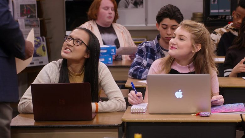 """Microsoft Surface Used by Gloria Aung & MacBook Air Used by Brooke Sorenson in Mr. Iglesias - Season 1, Episode 9, """"Oh Boy, Danny"""" (2019) TV Show Product Placement"""