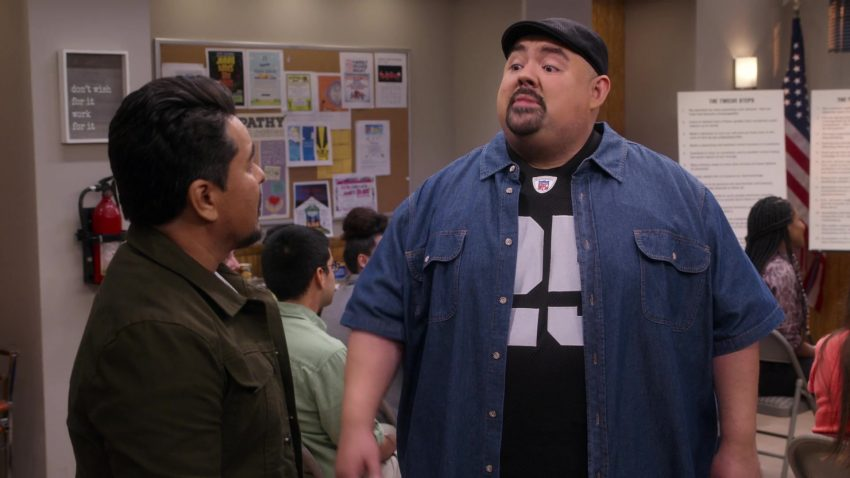 "NFL T-Shirt Worn by Gabriel 'Fluffy' Iglesias in Mr. Iglesias - Season 1, Episode 4, ""The Wagon"" (2019) - TV Show Product Placement"