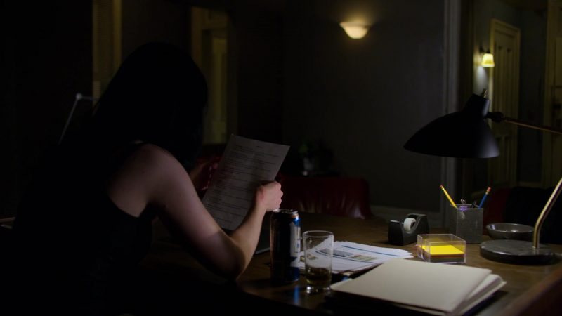 """NOS Energy Drink Enjoyed by Krysten Ritter in Jessica Jones - Season 3, Episode 1, """"A.K.A The Perfect Burger"""" (2019) TV Show Product Placement"""