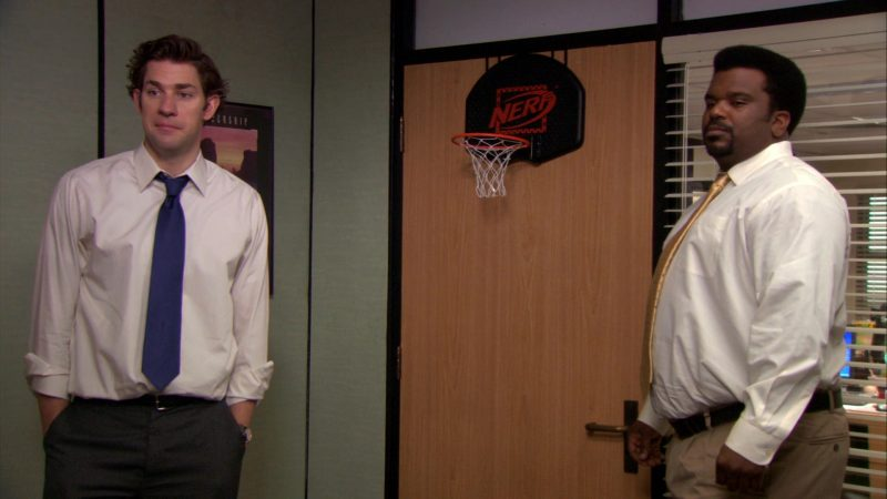 """Nerf Basketball Hoop by Hasbro in The Office – Season 7, Episode 23, """"The Inner Circle"""" (2011) TV Show Product Placement"""
