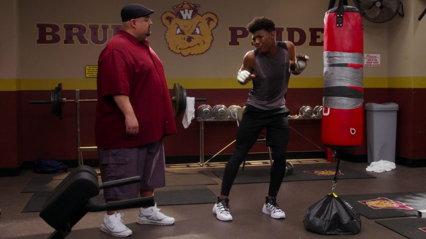 """Nike Air White Sneakers Worn by Gabriel 'Fluffy' Iglesias in Mr. Iglesias - Season 1, Episode 5, """"Everybody Hates Gabe"""" (2019) - TV Show Product Placement"""