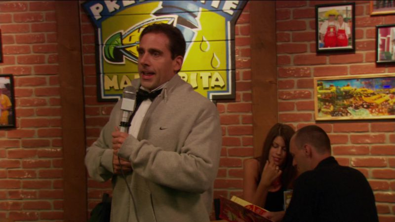 "Nike Hoodie Worn by Steve Carell (Michael Scott)  in The Office – Season 2, Episode 1, ""The Dundies"" (2005) - TV Show Product Placement"