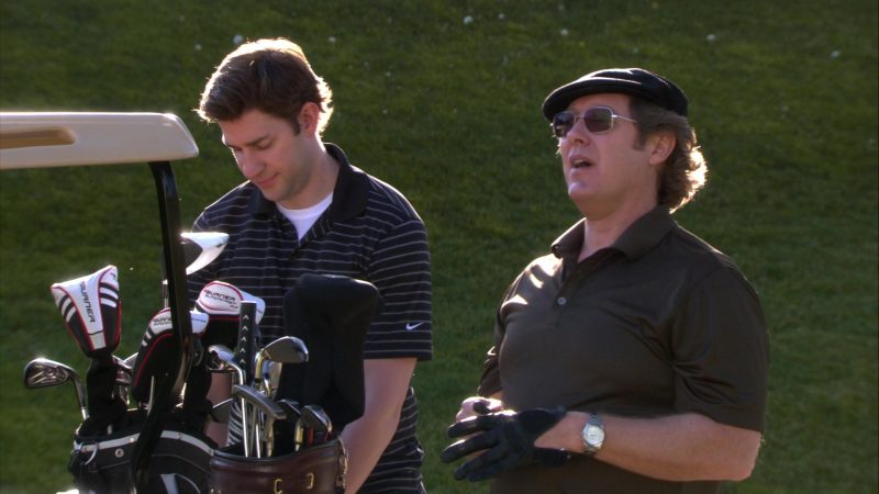 "Nike Shirt Worn by John Krasinski (Jim Halpert) & TaylorMade Burner Golf Equipment in The Office – Season 8, Episode 18, ""Last Day in Florida"" (2012) - TV Show Product Placement"