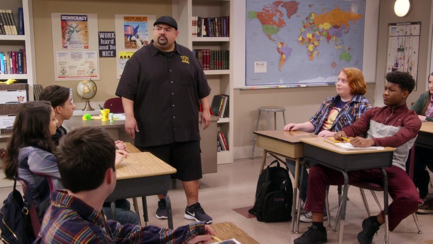"Nike Shoes Worn by Gabriel Iglesias & Jansport Backpack Used by Tucker Albrizzi in Mr. Iglesias - Season 1, Episode 7, ""Talent Show"" (2019) TV Show"