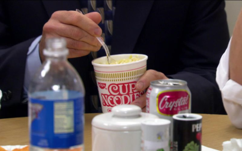 Nissin Cup Noodles Held by Steve Carell (Michael Scott) in The Office (3)