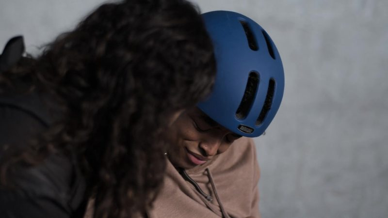 "Nutcase Blue Skateboarding Street Helmet Worn by Odiseas Georgiadis in Trinkets - Season 1, Episode 8, ""Monday I'm in Love"" (2019) - TV Show Product Placement"
