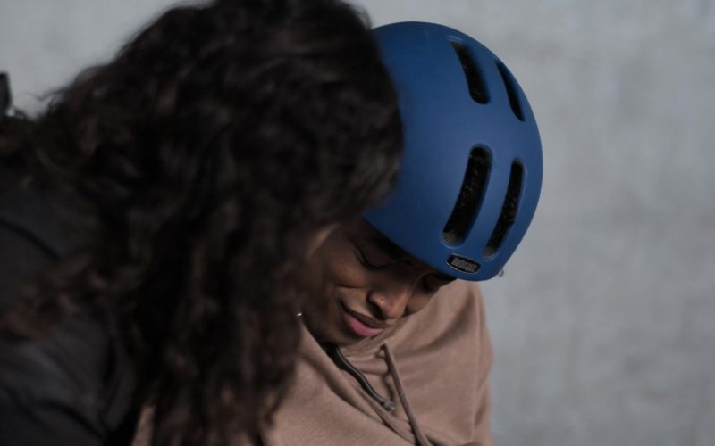Nutcase Blue Skateboarding Street Helmet Worn by Odiseas Georgiadis in Trinkets