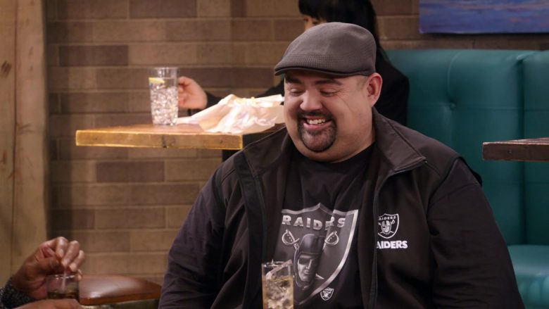 """Oakland Raiders Vest and T-Shirt Worn by Gabriel Iglesias in Mr. Iglesias - Season 1, Episode 8, """"Teachers' Strike"""" (2019) - TV Show Product Placement"""