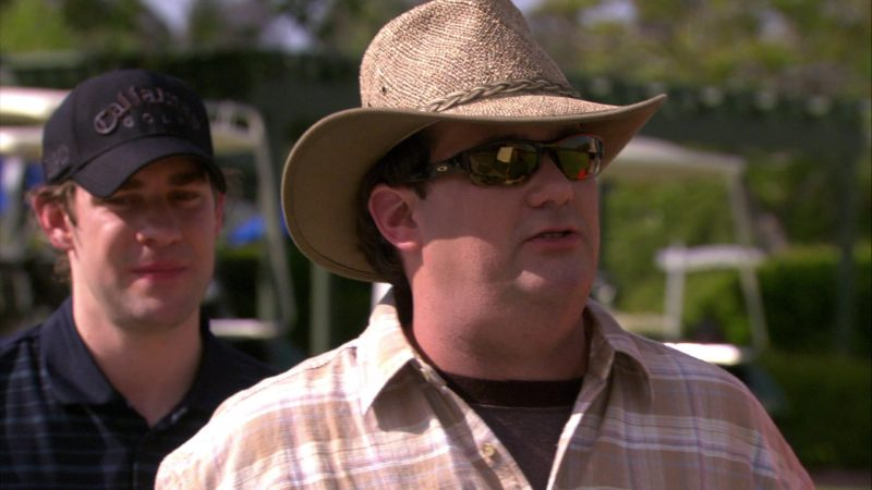 "Oakley Sunglasses Worn by Brian Baumgartner (Kevin Malone) in The Office – Season 4, Episode 17, ""Job Fair"" (2008) - TV Show Product Placement"