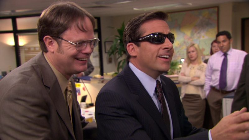 "Oakley Sunglasses Worn by Steve Carell (Michael Scott) in The Office – Season 6, Episode 7, ""The Lover"" (2009) - TV Show Product Placement"