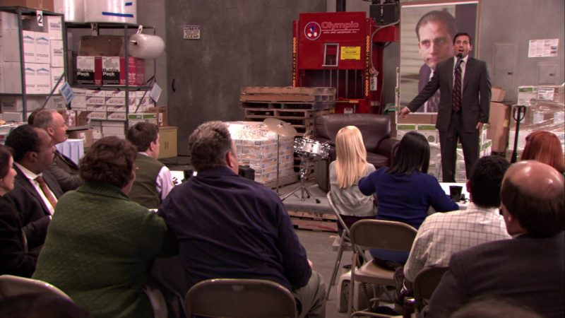 """Olympic Wire & Equipment in The Office – Season 5, Episodes 14-15, """"Stress Relief"""" (2009) TV Show Product Placement"""