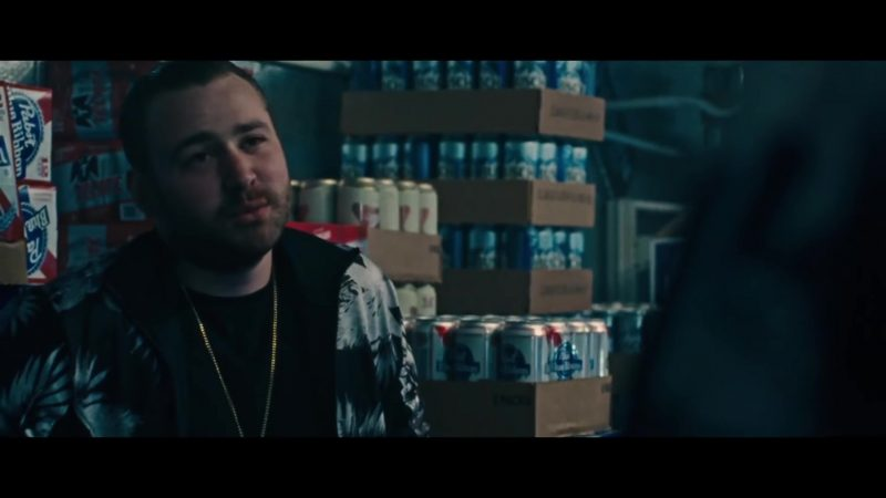 Pabst Blue Ribbon Beer in Killerman (2019) - Movie Product Placement