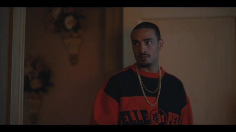 Pelle Pelle Marc Buchanan Orange Sweatshirt Worn by Freddy Miyares in When They See Us - Season 1, Episode 3 (2019) TV Show