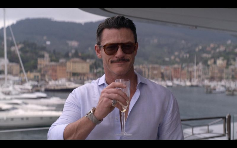 Persol Sunglasses Worn by Luke Evans in Murder Mystery (11)