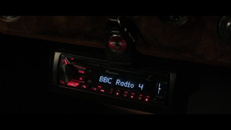 Pioneer Car Audio and BBC Radio Station in Good Omens - Season 1, Episode 1, In The Beginning (2019) - TV Show Product Placement