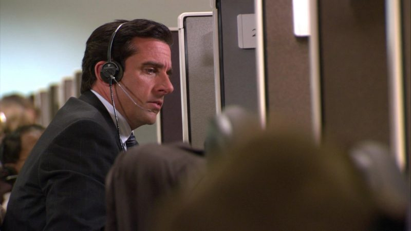 "Plantronics Headset Used by Steve Carell (Michael Scott) in The Office – Season 4, Episodes 7-8, ""Money"" (2007) TV Show Product Placement"