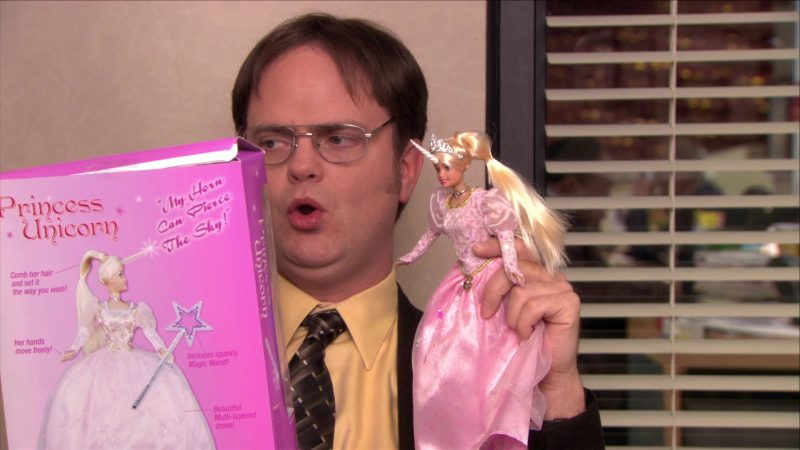 """Princess Unicorn Doll in The Office – Season 5, Episode 11, """"Moroccan Christmas"""" (2008) TV Show Product Placement"""