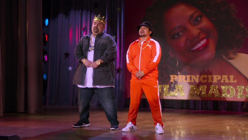 "Puma Tracksuit, Adidas Sneakers and Kangol Hat Worn by Jacob Vargas in Mr. Iglesias - Season 1, Episode 7, ""Talent Show"" (2019) - TV Show Product Placement"