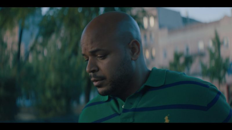 Ralph Lauren Green Striped Polo Shirt Worn by Justin Cunningham in When They See Us - Season 1, Episode 3 (2019) - TV Show Product Placement