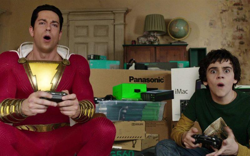 Razer Headphones, Panasonic, iMac Computers in Shazam! Movie (1)