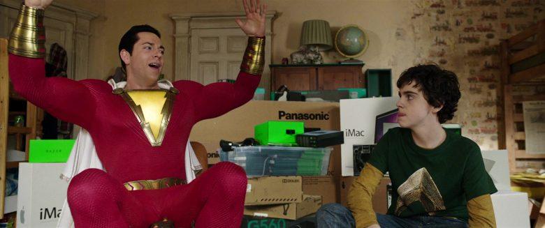 Razer Headphones, Panasonic, iMac Computers in Shazam! (2019) Movie Product Placement