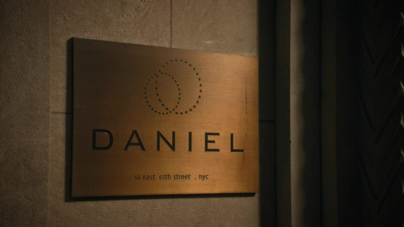 "Restaurant DANIEL in Billions - Season 4, Episode 11, ""Lamster"" (2019) - TV Show Product Placement"