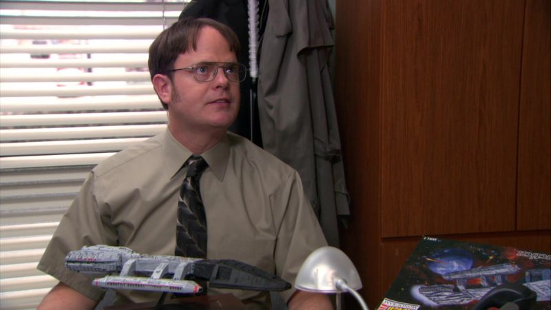 "Revell Battlestar Galactica Used by Rainn Wilson (Dwight Schrute) in The Office – Season 9, Episodes 22-23, ""A.A.R.M."" (2013) TV Show"
