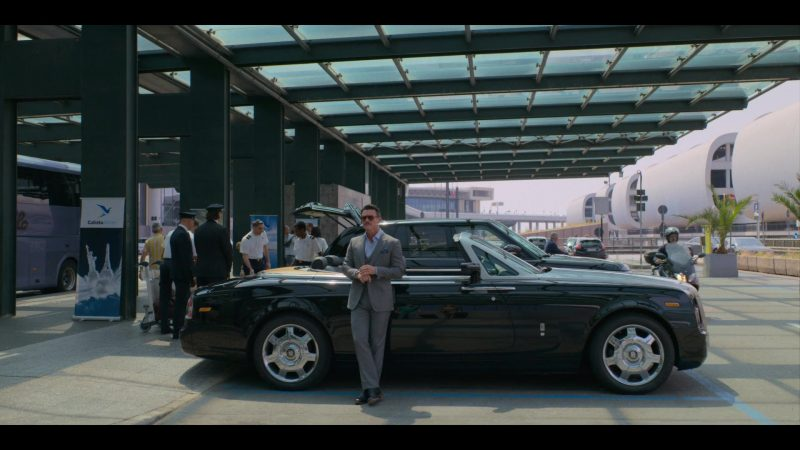 Rolls-Royce Convertible Car Used by Luke Evans in Murder Mystery (2019) Movie Product Placement