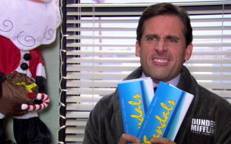 Sandals Resorts International Tickets Held by Steve Carell (Michael Scott) in The Office (2)